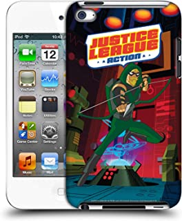 Official Justice League Action Green Arrow Character Art Hard Back Case Compatible for Apple iPod Touch 4G 4th Gen
