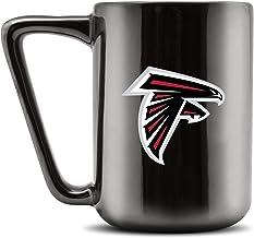 مج قهوة سيراميك مطبوع عليه Duck House NFL ATLANTA FALCONS - أسود معدني، 473 جم