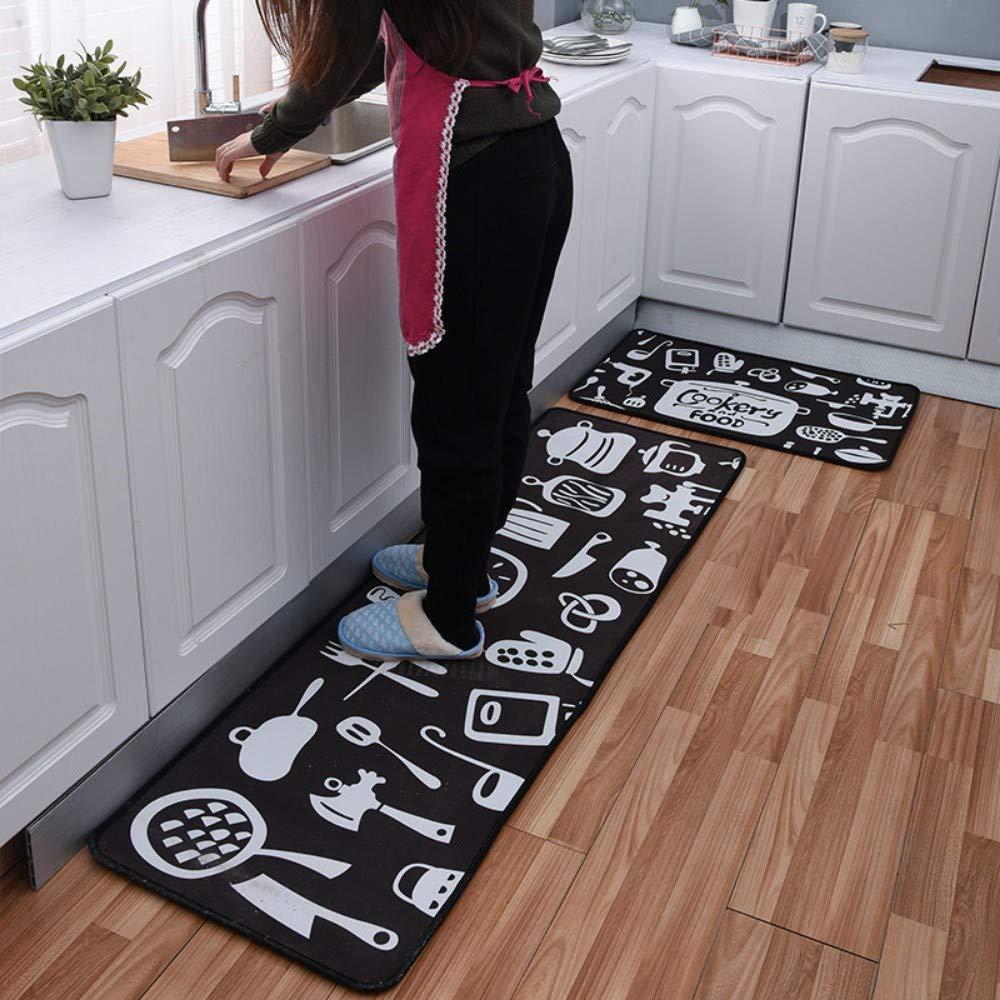 MWPO Kitchen Rug Set 9 Pieces Kitchen Cutlery 9 mm Thick Carpet ...