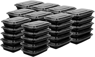 Suwimut 60 Pack Meal Prep Plastic Food Containers, Disposable Lunch Box Food Storage Containers with Lids for Freezer and ...
