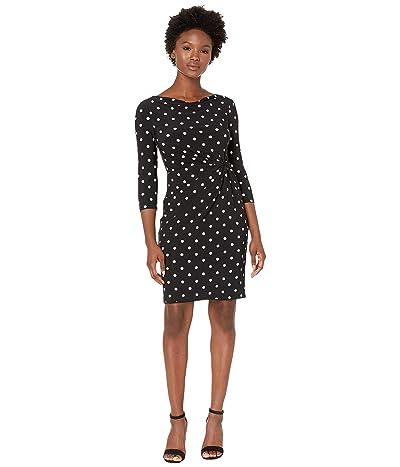 LAUREN Ralph Lauren Petite Trava Dress (Black/Colonial Cream) Women