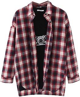 قمصان حريمي من Abeaicoc بألوان منقوشة وأكمام طويلة بأزرار للأسفل