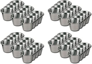 Silver 2.5-Ounce 6 Pack Tablecraft 2.5 oz Dipping Cups with Lids H5069