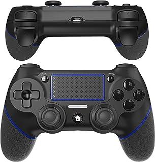 「2021最新」A-VIDET PS4 コントローラー ワイヤレス 最新バージョン対応 600mAh Bluetooth リンク遅延なし ジャイロセンサー機能 イヤホンジャック ゲームパット 搭載 高耐久ボタン 二重振動 日本語取扱説明書 PS...