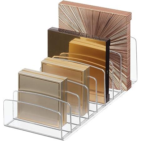 InterDesign Clarity 30,5cm baño vanidad Countertop Multi Level Organizador para cosméticos maquillaje, Medicina Vitaminas,–transparente, varios estilo, Organizador de paleta, 1, 1