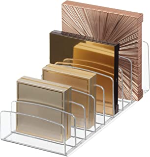 iDesign Clarity Vertical Plastic Palette Organizer for Storage of Cosmetics, Makeup, and Accessories on Vanity, Countertop, or Cabinet, 9.25