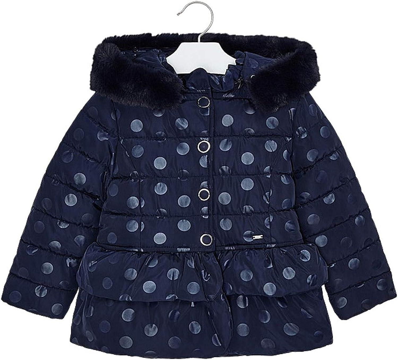 Mayoral - Polk dots Jacket for Girls - 4412, Navy