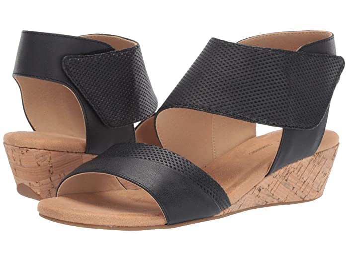 Rockport  Calia Two-Piece Sandal (Black) Womens Shoes