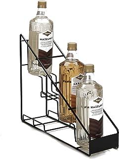Mind Reader STEPSYR3-CLR Clear Syrup Bottle Holder, Acrylic 3 Compartment Bottle Organizer, Storage for Syrup, Wine, Dress...