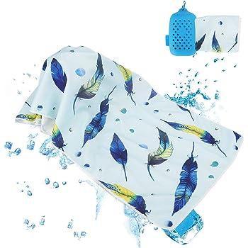 クールタオル スポーツタオル 速乾タオル 冷却 超吸水 首冷やす 熱中症対策 収納ケース付き 子供 無添加