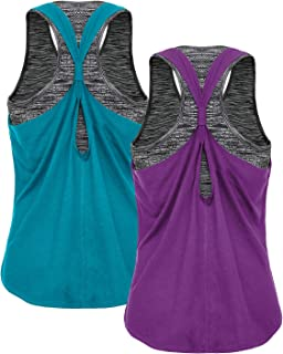 FAFAIR Women's Workout Tank Tops with Built in Bra Sports Gym Shirts Yoga Tops