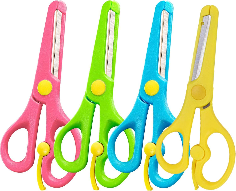 4Pcs Preschool Super beauty product restock quality top Training Finally popular brand Scissors Pre-Sc Safety Children