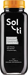 Sol-ti Coconut Charcoal SuperAde Organic Detox - Activated Charcoal Cold Pressed Juice Cleanse, 9PK