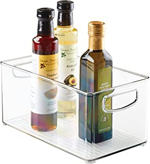 iDesign Plastic Storage Bin with Handles for Kitchen, Fridge, Freezer, Pantry, and..