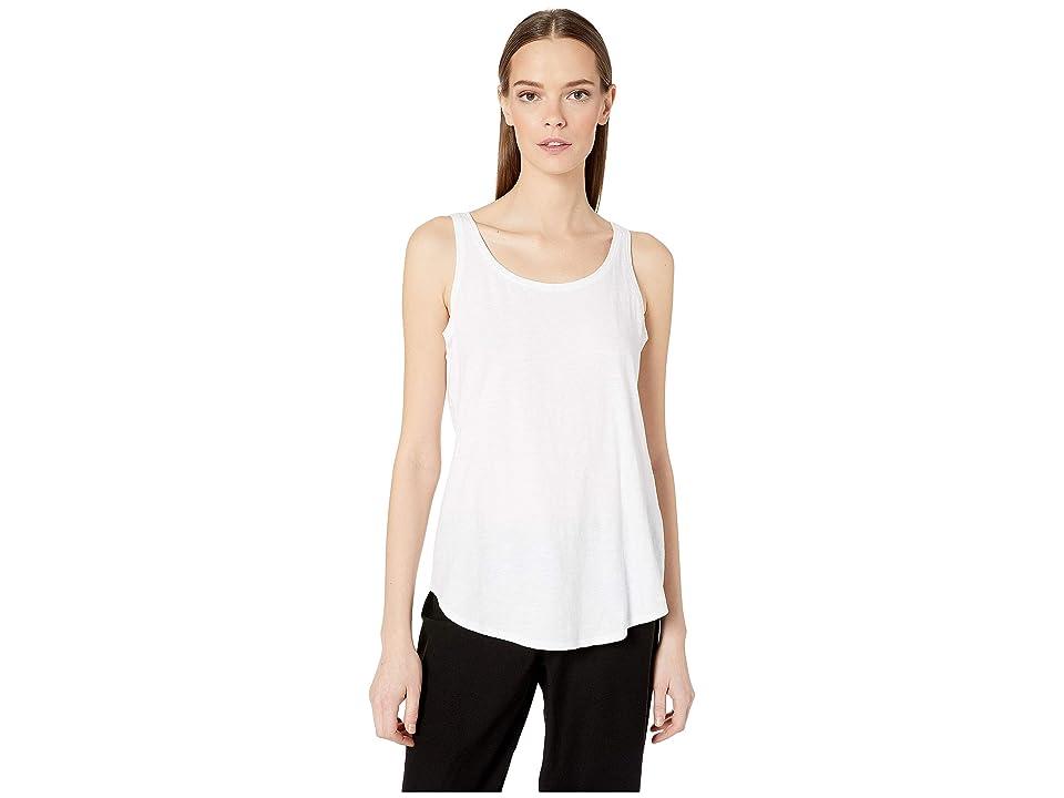 Eileen Fisher Scoop Neck Tank Top (White) Women