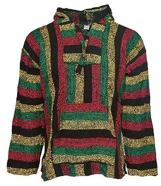 Canyon Creek Striped Woven Baja Jacket Coat Hoodie