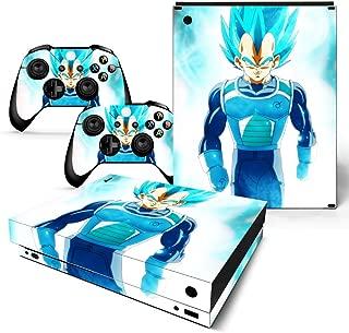EBTY-Dreams Inc. - Microsoft Xbox One X Scorpio - Dragon Ball Z (DBZ) Anime Vegeta Saiyan Vinyl Skin Sticker Decal Protector