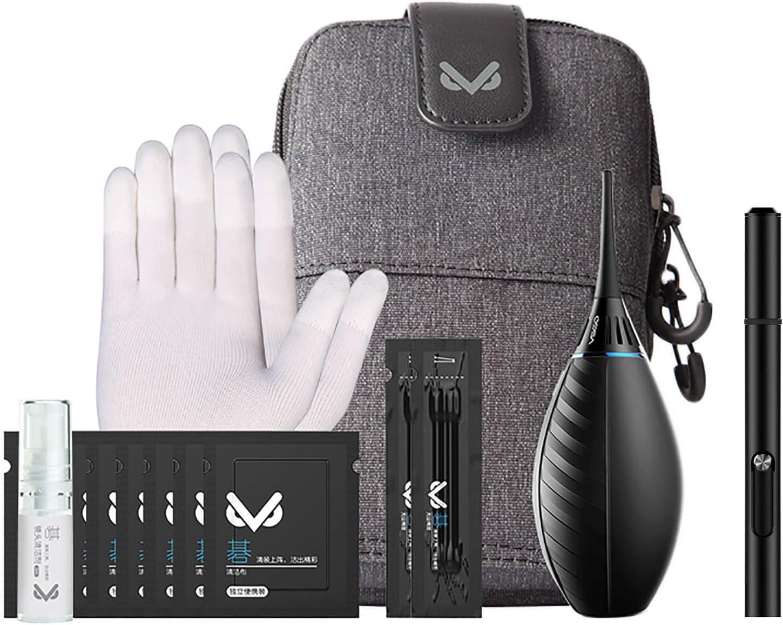 Indovis VS-A3E - Kit de limpieza profesional para cámaras, objetivos, relojes, smartphones, etc. 7 piezas