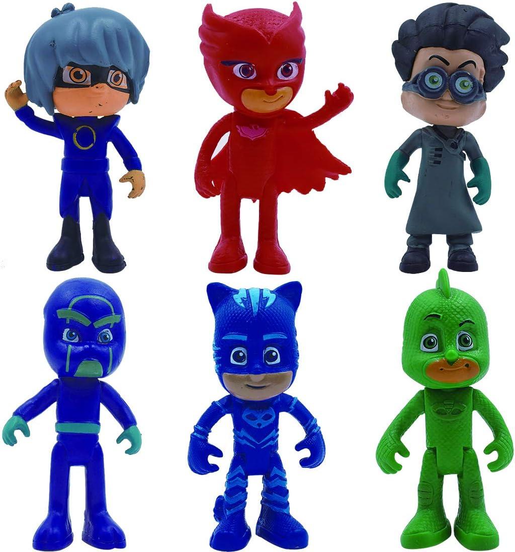 Mini Decoración de Personajes - ZSWQ 6 Pcs Mini Set de Decoración de Muñecas, para Decoración para Tartas, Mini Muñecas para El Hogar, Artículos de Colección