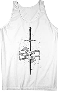Winter Has Come Popular TV 引用する Sword 男性用 Tank Top Sleeveless Shirt