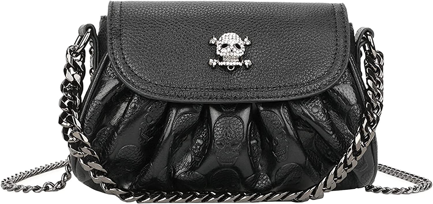 AlwaySky Women Punk Handbag and Small Recommendation Skull Super Special SALE held Satchels Purse Tote