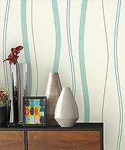 Fototapete Blau 3D Kreise Holzwand weisse Linien