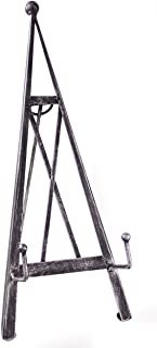 """Red Co. Industrial Style Decorative Plate Stand and Art Holder Easel in Brushed Silver Finish - 15"""" H"""