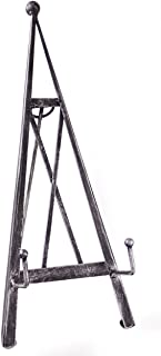 Red Co. Industrial Style Decorative Plate Stand and Art Holder Easel in Brushed Silver Finish - 15