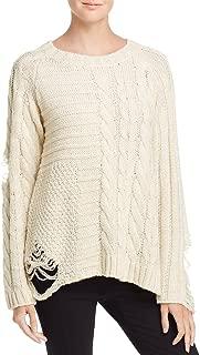 Banjara Womens Destroyed Metallic Pullover Sweater
