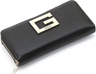 Guess wallet for women with a classic character, with a large Guess logo on the front
