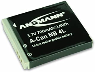 ANSMANN 5022263 A Can NB 4 L Li Ion Digicam Ersatzakku 3,7V/700mAh für Canon Foto Digitalkamera