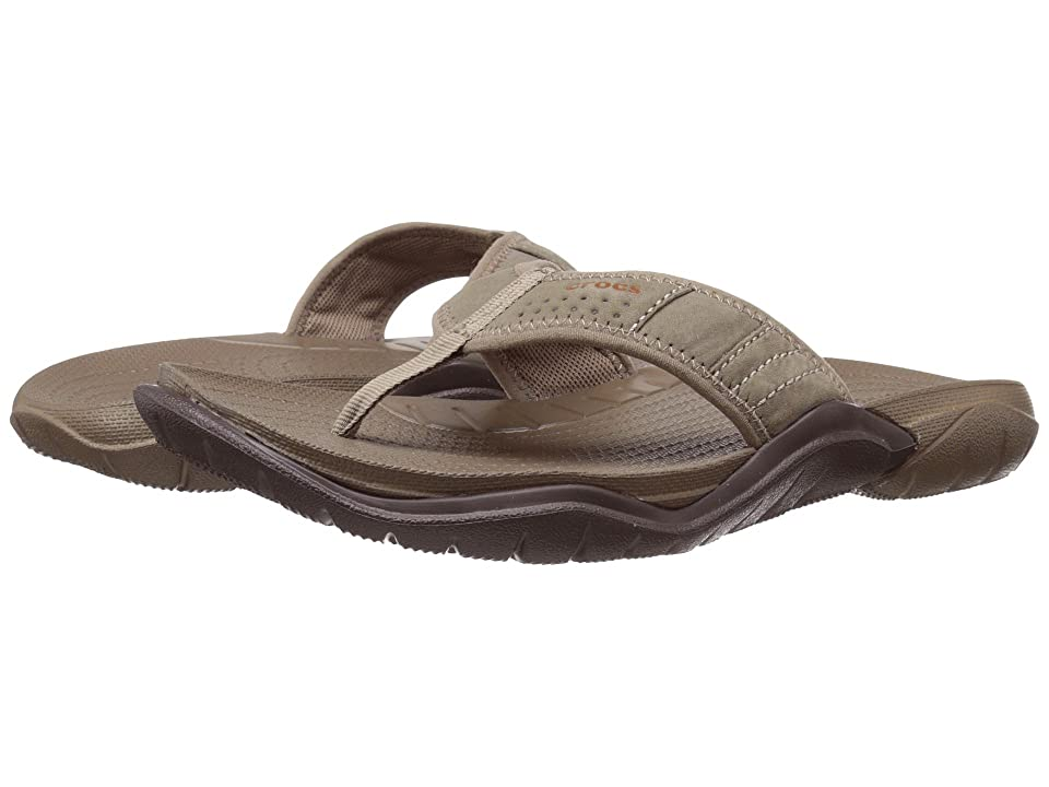 Crocs Swiftwater Flip (Walnut/Espresso) Men