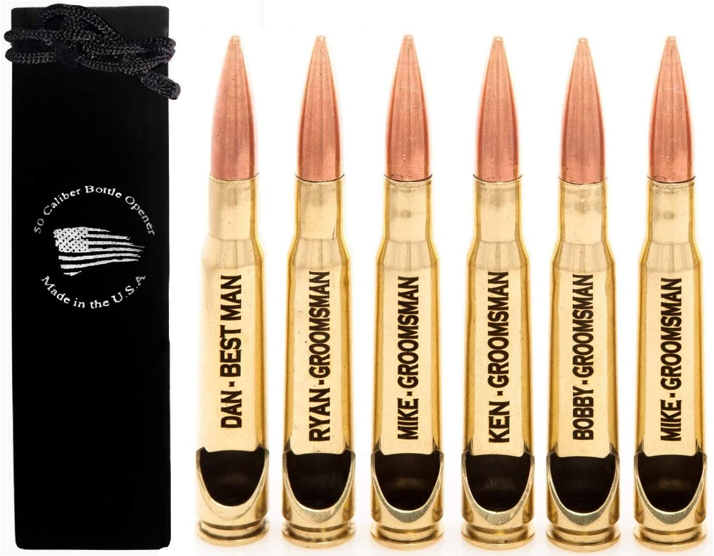 Personalized Max 53% OFF Engraved 50 Caliber BMG Opener Bullet Many popular brands Real - Bottle