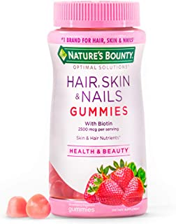 Hair, Skin, and Nails with Biotin by Nature's Bounty Optimal Solutions, Multivitamin Supplement,...