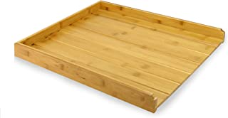 comprar comparacion Escurridor de bambú | Escurridor de platos de madera | Escurreplatos| Organizador de cubiertos de una pieza | Accesorios d...