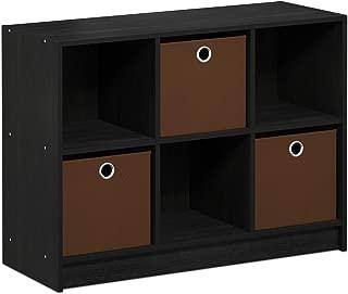FURINNO Basic 3x2 Bookcase Storage, Americano/Brown