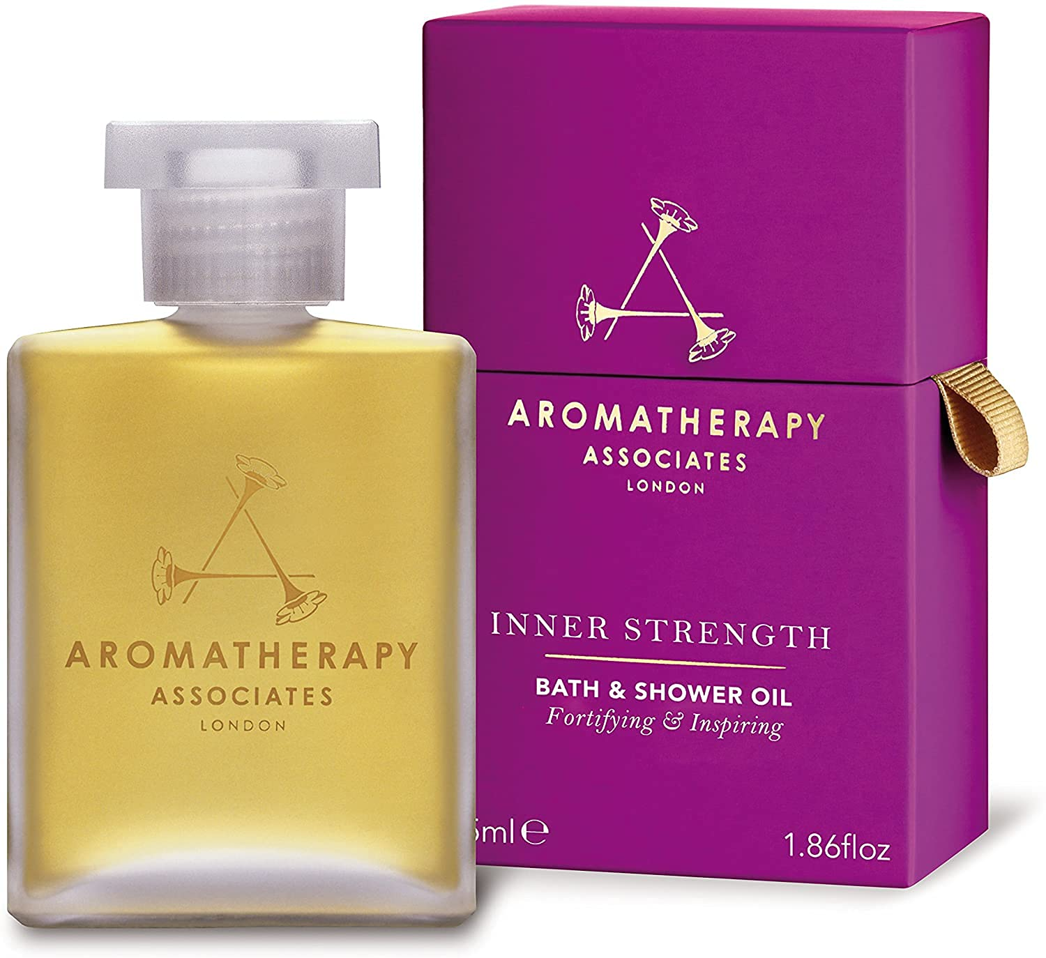 Seasonal New Free Shipping Wrap Introduction Aromatherapy Associates Inner Strength Bath Oil And 1.86F Shower