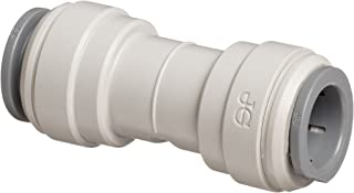 John Guest Acetal Copolymer Tube Fitting, Union Straight Connector, 3/8