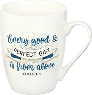 Best Every Good Gift James 1:17 Ceramic Christian Coffee Mug for Women and Men - Inspirational Coffee Cup and Christian Gifts (12-Ounce Ceramic Cup) Review