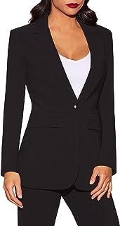 Boston Proper - Beyond Travel - Women's Plus Size One Button Knit Boyfriend Blazer - Jackets for Women