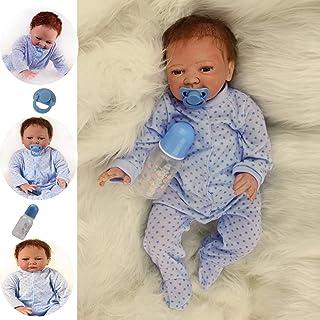 ZIYIUI Reborn Muñecas Bebé Suave Vinilo de Silicona 20 Pulgadas 50 cm Bebe Reborn niño Lifelike Realista Regalo de Juguete...