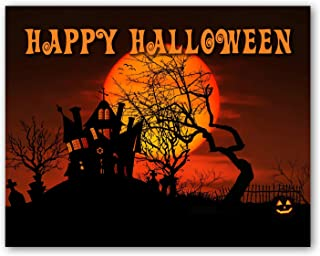 Happy Halloween Greeting Cards with Envelopes - Blank on the Inside - Includes 12 Cards and Envelopes - 5.5
