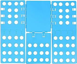 Relaxdays Planche à plier vêtements 3 ème génération 68 x 57 plieuse chemises plieur t-shirts flip flop, Bleu