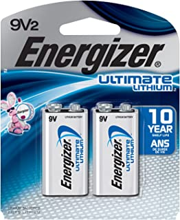 Energizer Ultimate Lithium 9V Batteries, 2-Count