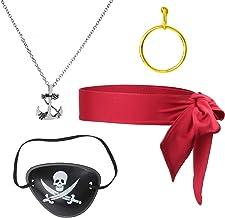 Herefun 40 PCS Pirate Accessoire Pirates Bagues F/ête /à Th/ème de Pirate Pirate Anniversaire F/ête Accessoire Pirate Bandana et Pirate Eye Patch Accessoires Faveurs de F/ête d/'Halloween et Enfant