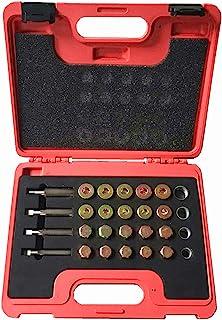 جعبه تعمیر نخ پانل روغن Highking Tool ، کیت تعمیر نخ پانل روغن 64 عددی Sump Gearbox Drain Plug Tool M13 M15 M17 M20