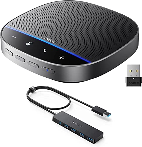 high quality Anker PowerConf S500 Bluetooth Speakerphone with Zoom Rooms popular Certification, Anker 4-Port USB 3.0 Hub Conferencing Bundle, Premium Voice Pickup, new arrival Ultra-Slim Data USB Hub outlet sale
