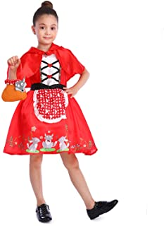 Little Red Riding Hood Costume for Girls Christmas Cosplay,Easter Dress Up