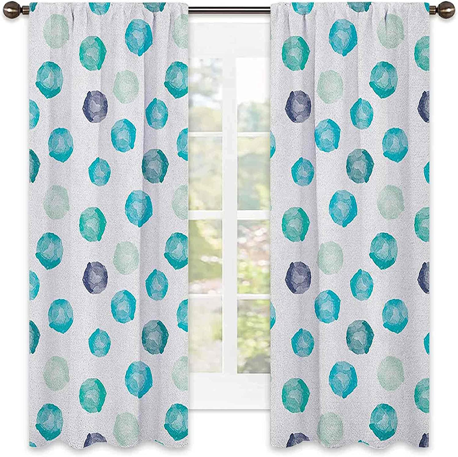 Aqua Translated Wear Resistant Color Curtain outlet Shap Painted Round Style Hand