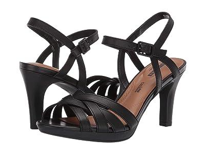 Clarks Adriel Wavy (Black Leather) High Heels